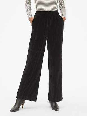 Gap High Rise Wide-Leg Pants in Crinkle Velvet