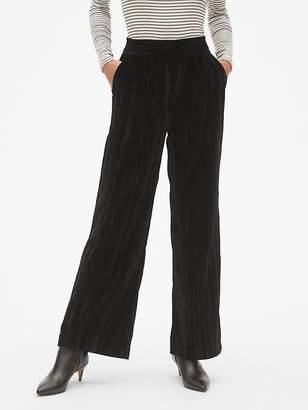 Gap High Rise Wide-Leg Pants in Crinkle Velvet
