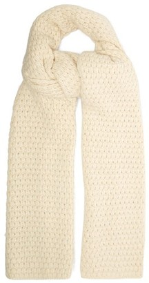 Raey Bubble Knit Cashmere Scarf - Womens - Ivory