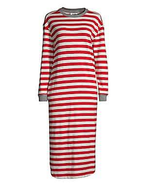 Sleepy Jones Sleepy Jones Women's Nina Stripe Midi Night Gown