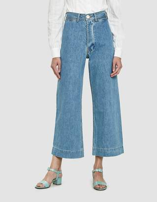 Jesse Kamm Sailor Pant in Light Blue Denim