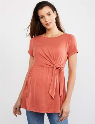 Side Knot Babydoll Maternity Top