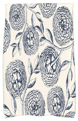"""Simply Daisy 16"""" x 25"""" Antique Flowers Floral Print Hand Towel"""