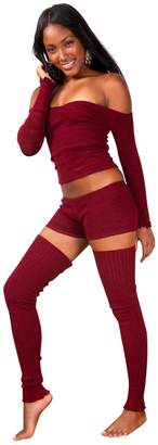 Petite Sexy 3 Pc Booty Shorts Top & Thigh High Leg Warmers KD dance New York Dancewear Loungewear Activewear High Quality Sexy Thigh Highs Made In USA