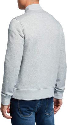 Michael Kors Men's Bomber Jacket with Exposed Zip