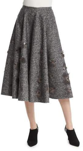Michael Kors Collection Embellished Dance Skirt, Charcoal