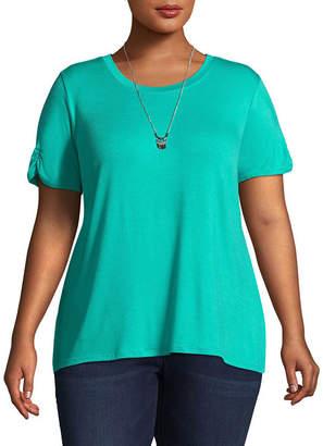 Alyx Short Sleeve Lace Back T-Shirt - Plus