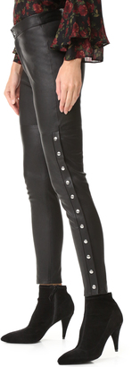 IRO Sabrina Leather Pants $998 thestylecure.com