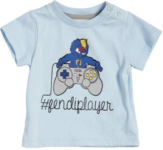 Fendi Player Print Cotton Jersey T-Shirt