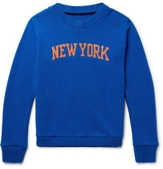 The Elder Statesman + Nba New York Knicks Intarsia Cashmere Sweater