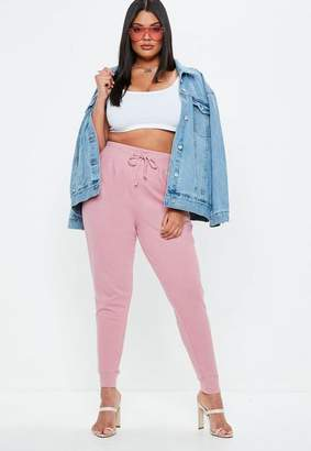 Missguided Curve Pink Joggers