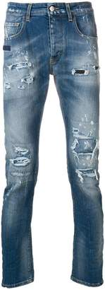 Frankie Morello distressed slim-fit jeans
