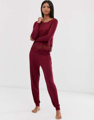 Pour Moi? Pour Moi sofa love foldover cuffed pyjama pants