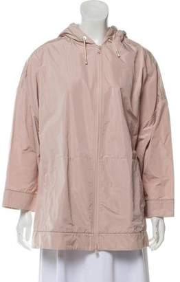 Brunello Cucinelli Monili-Trimmed Windbreaker Jacket