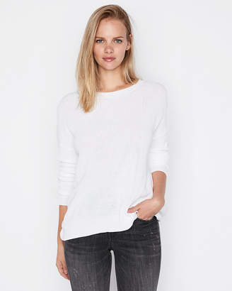Express Twist Back Pullover Sweater