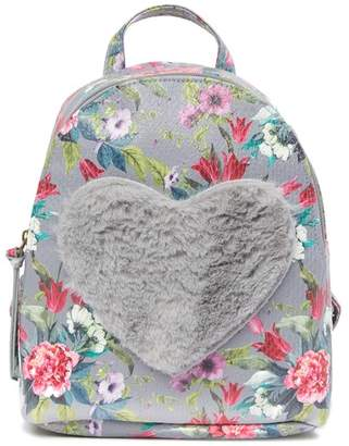 T-Shirt & Jeans Floral Love Faux Fur Backpack