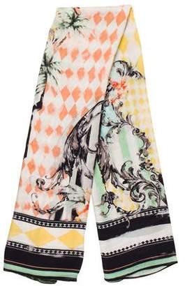 Balmain Printed Silk Scarf