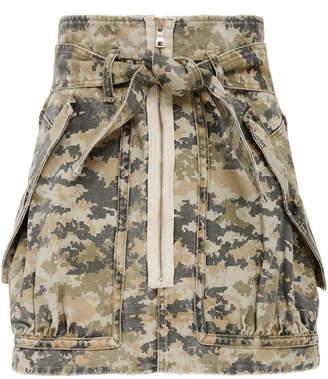 Marissa Webb Hannah camo cotton mini skirt