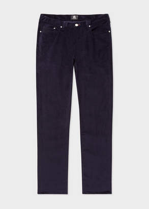 Paul Smith Men's Tapered-Fit Navy Stretch-Cotton Corduroy Pants