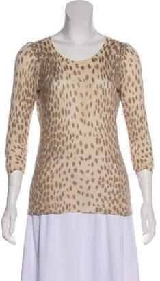 Rebecca Taylor Silk & Cashmere-Blend Long Sleeve Top