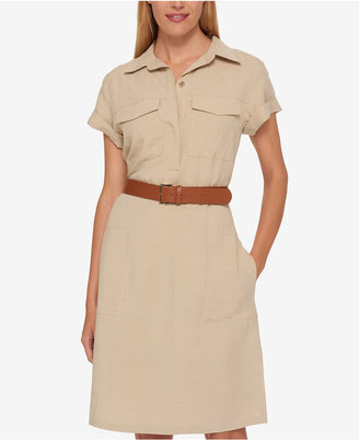 Tommy Hilfiger Belted Shirtdress, Created for Macy's $129.50 thestylecure.com