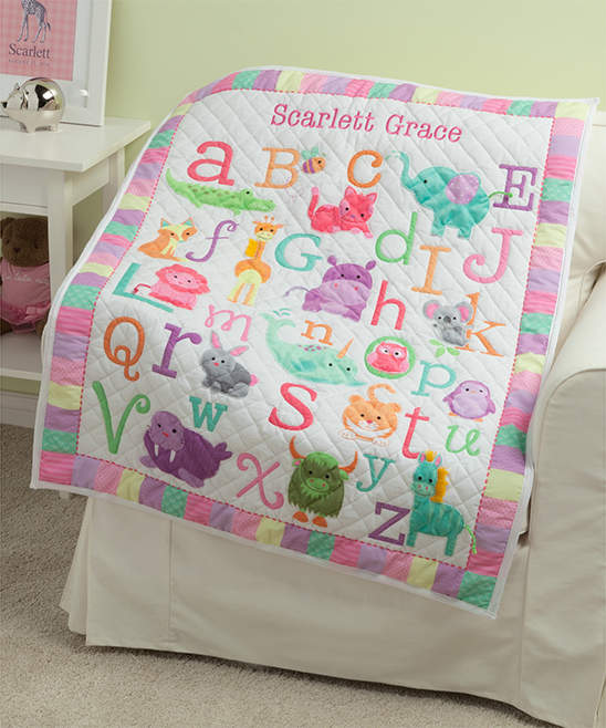 Personalized Girl's ABC Quilt