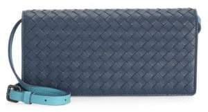 Bottega Veneta Basket-Weave Continental Wallet