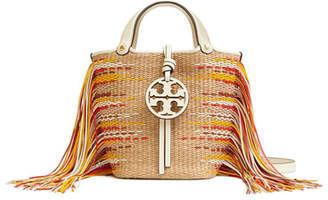 Tory Burch Miller Mini Fringe Bucket Bag