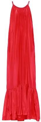 BRIGITTE Kalita silk maxi dress