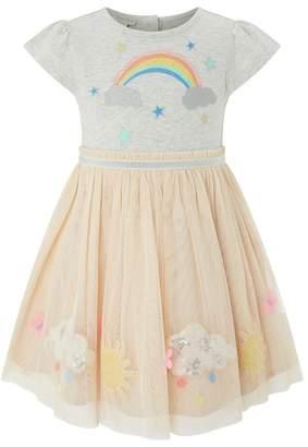 Monsoon Pink Baby Girls' 'Lisa Jane' Disco Dress