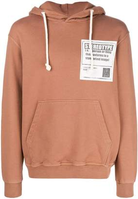 Maison Margiela 'Stereotype' patch hoodie