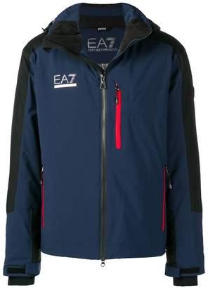Emporio Armani Ea7 logo print hooded jacket
