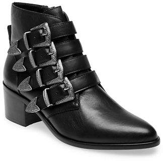 Steve Madden Billey Buckled Leather Booties