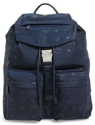 MCM Large Dieter Monogrammed Nylon Backpack