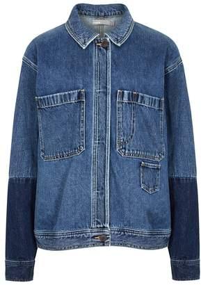 Vince Blue Panelled Denim Jacket