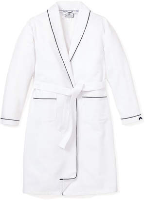 Petite Plume Solid Robe w/ Contrast Piping, Size 2-14