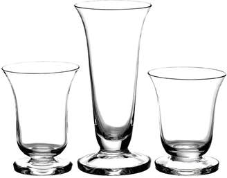 French Home 18 piece Art Deco Water, Wine and Champagne Set of Glasses.
