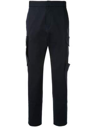 Wooyoungmi cargo pocket slim-fit trousers