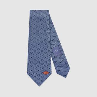 Gucci game silk tie