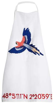 Kilometre Paris - Cayo Levisa Embroidered Cotton Apron - Womens - White Multi