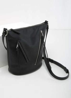 Mint Velvet Eden Black Zip Bucket Bag
