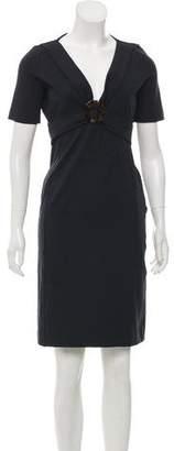 Gucci Short Sleeve Knee-Length Dress