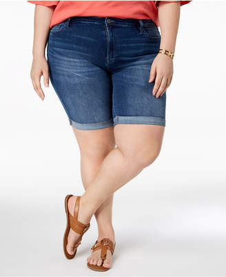 Tommy Hilfiger Plus Size Cuffed Denim Shorts