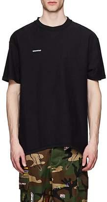 Vetements Men's Logo Cotton Oversized Inside-Out T-Shirt