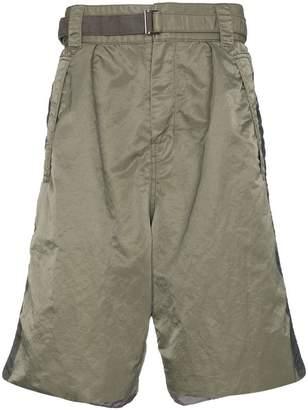 Sacai MA-1 belted shorts