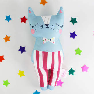 Julia Staite Cat Soft Toy Blue