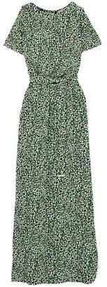 MICHAEL Michael Kors Cold-Shoulder Printed Stretch-Jersey Maxi Dress