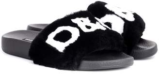 Dolce & Gabbana Fur slides