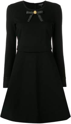 Emporio Armani bow ribbon detail skater dress