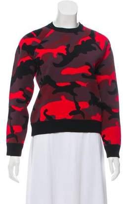 Valentino Camo Printed Sweatershirt